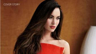 Claire marie megan fox blue eyes brunettes wallpaper