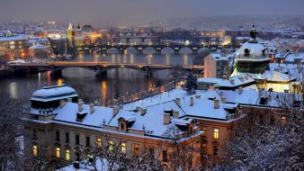 Czech republic prague cities cityscapes evening wallpaper
