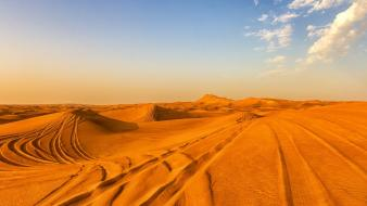 Deserts sand skies yellow wallpaper