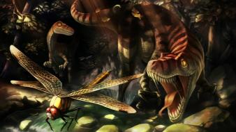 Dragons crown heroic age artwork dinosaurs fantasy art wallpaper