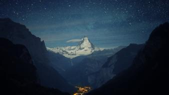 Europe switzerland landscapes lights mountains Wallpaper