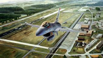 F-16 fighting falcon aircraft Wallpaper