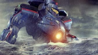 Gipsy danger pacific rim blue movies wallpaper