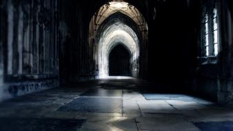 Harry potter hogwarts cathedrals hallway wallpaper