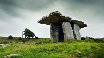 Ireland landscapes nature stone buildings wallpaper