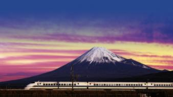 Japan mount fuji bullet train Wallpaper