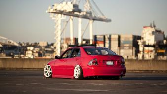 Japanese cars jdm red tuned car wallpaper