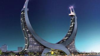 Katara lusail marina tower qatar buildings Wallpaper