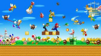 Mario bros background wallpaper