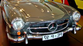 Mercedes-benz cars gray old vehicles Wallpaper