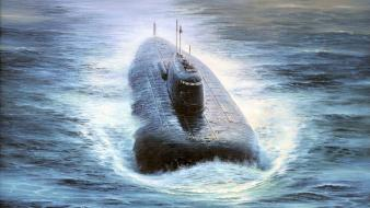 Military ocean sea ships submarine wallpaper