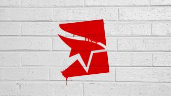 Mirrors edge faith logos spray paint wallpaper