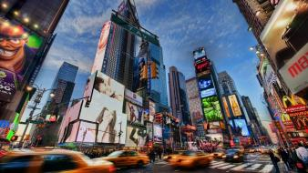 New york city times square cars cities lights wallpaper