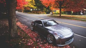 Nissan 350z autumn cars tuning Wallpaper