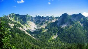 Olympic national park washington state blue clouds Wallpaper