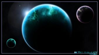 Planetside astronomy galaxy outer space planets wallpaper