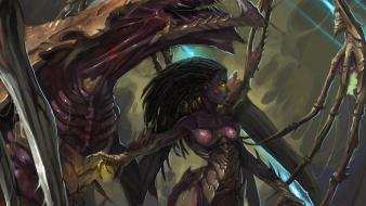 Queen of blades starcraft zerg artwork swarm wallpaper