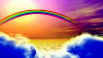 Rainbow clouds wallpaper