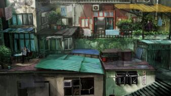 Sleeping dogs artwork cityscapes concept art digital wallpaper