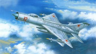Sukhoi su-11 aircraft fighters Wallpaper