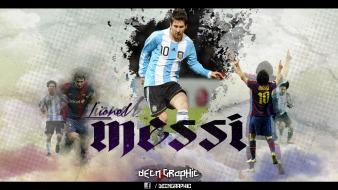 Team fc barcelona lionel messi players soccer Wallpaper