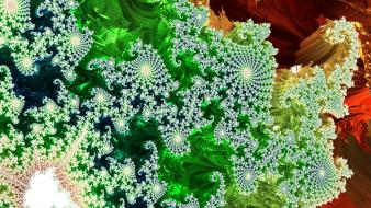 Abstract fractals geometry multicolor wallpaper