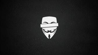 Anonymous simple background Wallpaper