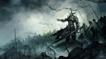 Armor artwork battles fantasy art horde wallpaper