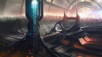 Artwork cities future futuristic city wallpaper