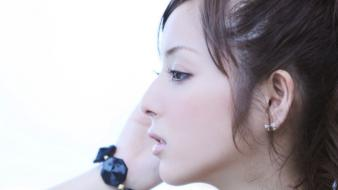 Asians nozomi sasaki asian girls close-up faces Wallpaper
