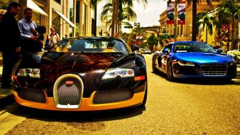 Audi r8 bugatti veyron vs Wallpaper