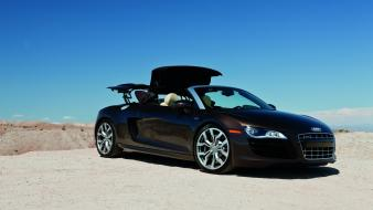 Audi r8 spyder black cars wallpaper