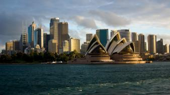 Australia sydney opera house cityscapes wallpaper