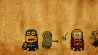 Avengers despicable me hulk iron man thor wallpaper