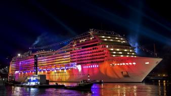 Banners bright cruise ship sea ships wallpaper