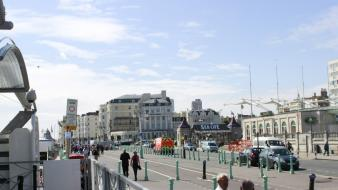 Brighton england landscapes street urban wallpaper