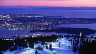 British columbia vancouver winter wallpaper