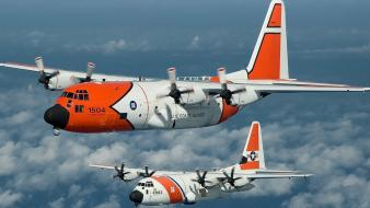 C-130 hercules c-130e lockheed us coast guard wallpaper