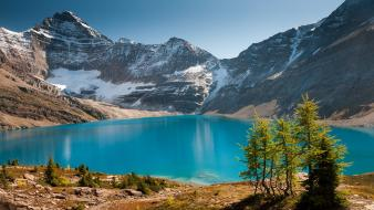 Canada lakes landscapes mountains nature wallpaper