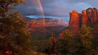 Canyon landscapes nature rainbows wallpaper