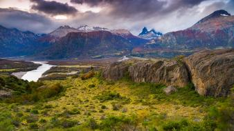 Chile national reserve patagonia without dams castillo clouds wallpaper