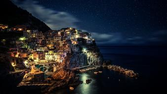 Cities city lights houses night wallpaper