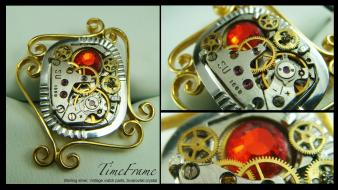 Clockwork machinery steampunk technology time wallpaper