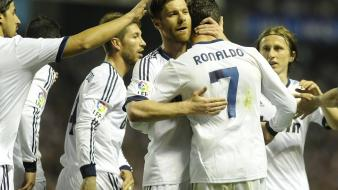 Cristiano ronaldo real madrid sergio ramos xabi alonso wallpaper