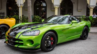 Dodge viper auto cars green sport wallpaper