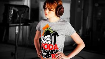 Emma stone star wars faces portraits redheads wallpaper