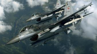 F-16 fighting falcon turkish air force jet wallpaper