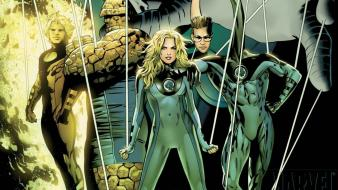 Fantastic four human torch invisible woman marvel comics wallpaper