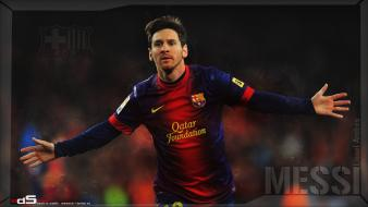 Fc barcelona lionel messi blaugrana football players wallpaper
