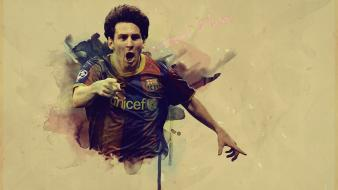 Fc barcelona lionel messi football players soccer wallpaper